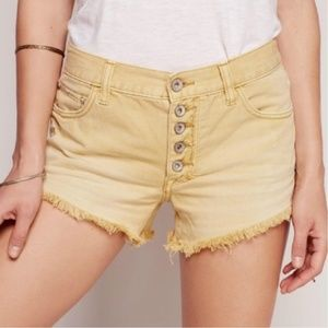 Free People Distressed Slouch Shorts sz W 29